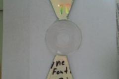 Лопасти из CD диска №1